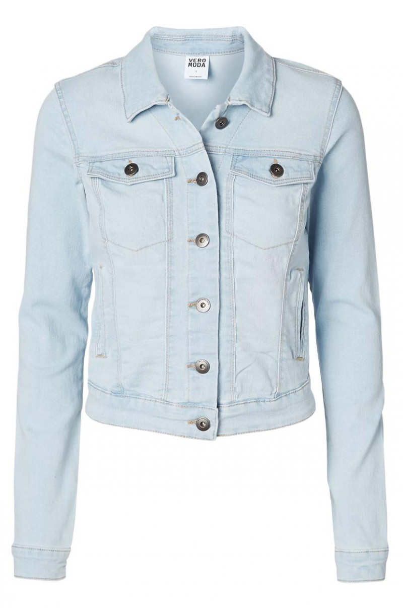 VERO MODA SOYA - JEANSJACKE - Light Blue Denim