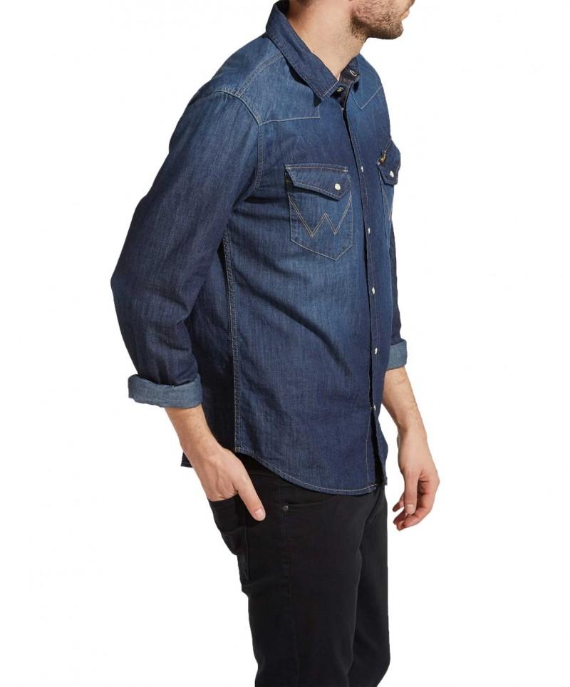 Wrangler Jeanshemd - Regular Fit - Rinse Indigo