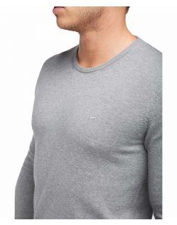 Mustang - Grauer Pullover mit Rundhalsausschnitt