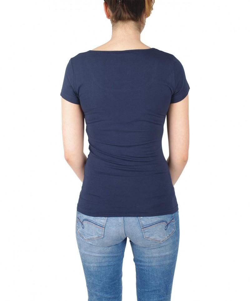 Vero Moda - maxi kurzärmliges T-Shirt mit U-Ausschnitt