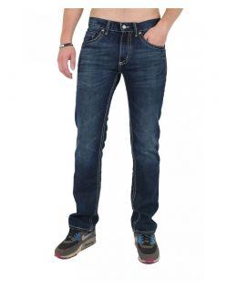 Pioneer Lake Jeans - Saddle Stitch -  Dark Used bdcd