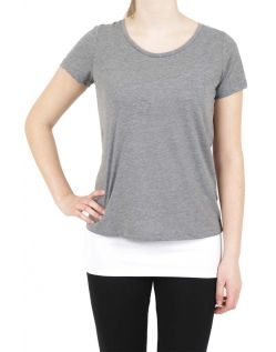 Vero Moda T-Shirt - Molly ss Top - Medium Grey  v