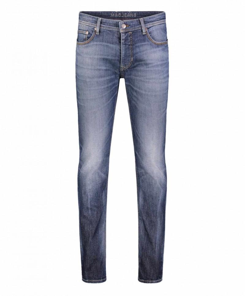 Mac Stan - Indigoblaue Vintage Jeans im Used Look