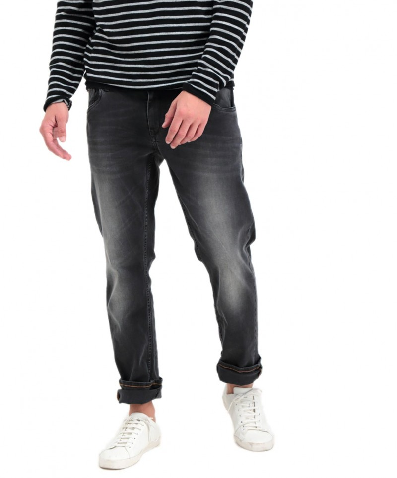 Garcia Russo - Tapered Jeans in Vintage-Schwarz