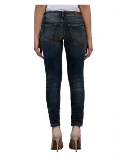LTB Mina - Dunkelblaue Ankle Jeans in Slim Fit - Hinten