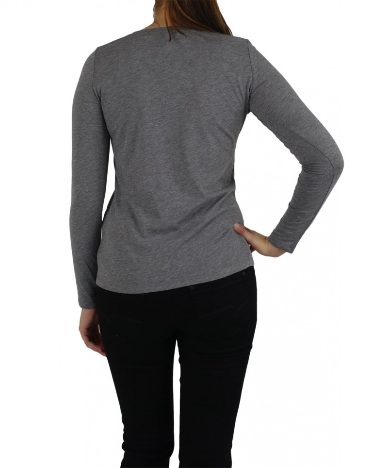 Vero Moda Shirt - MOLLY - Med. Grey Melange