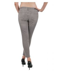 MAVI Jeans ADRIANA ANKLE - Super Skinny - Grey Stretch - Hinten