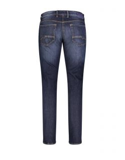 Mac Arne Pipe - enge Stretch-Jeans in dark blue Waschung - hinten