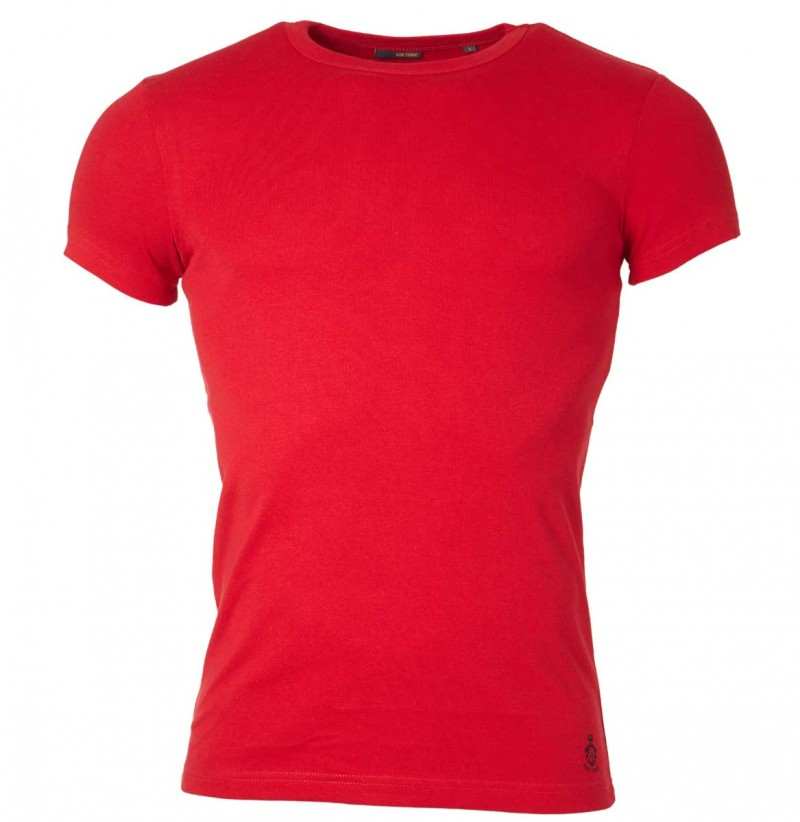Gin Tonic Basic T-Shirt - Tight Fit - Rot v