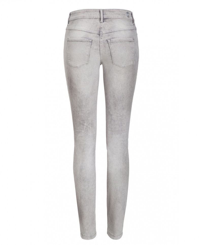 Mac DREAM SKINNY - Slim Fit Jeans - Light Grey Random