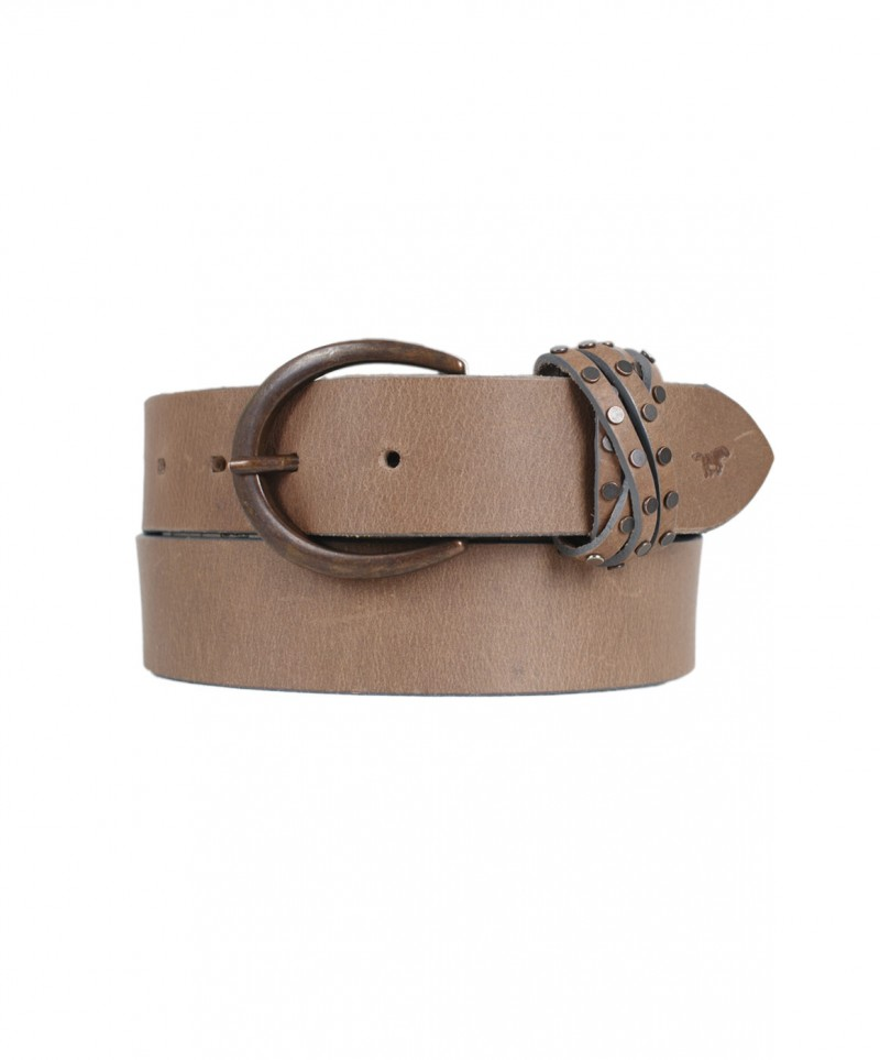 Mustang Gürtel - Buckle In Mat - Grey Taupe