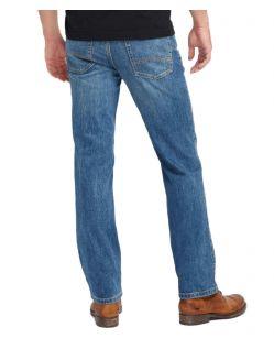 Mustang Tramper - Slim Fit Jeans in mittelblauen Used Look - Hinten