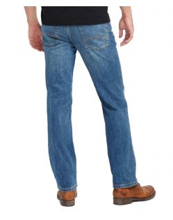 Mustang Tramper - Slim Fit Jeans in mittelblauen Used Look - Hinten