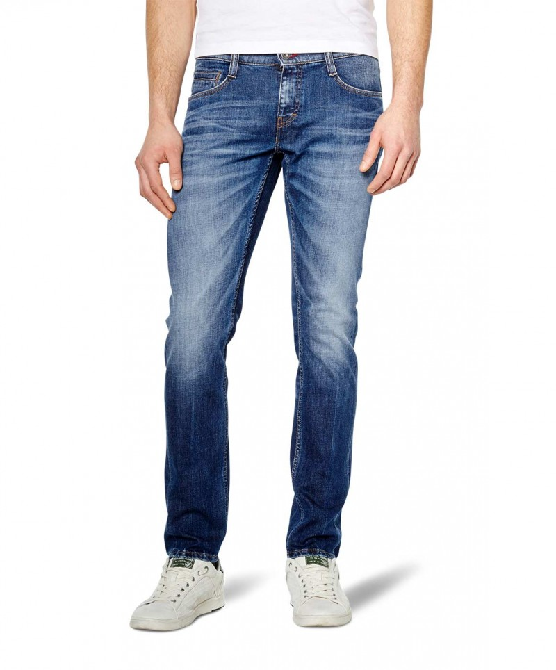 MUSTANG OREGON Taperd Jeans - Slim Fit - Scratched Used