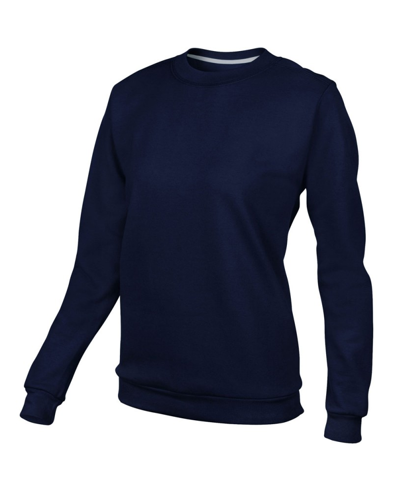 Damen Anvil Knitwear - Sweatshirt Rundhals - Navy