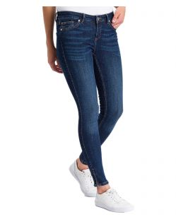 Cross Jeans Giselle - Ankle Jeans in Ocean Blau mit Zipper