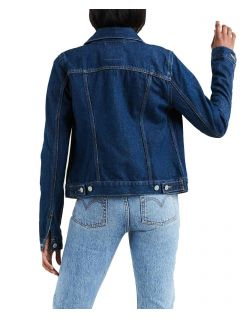 Levis Damen Original Truckerjacke in Dunkelblau Authentic f02