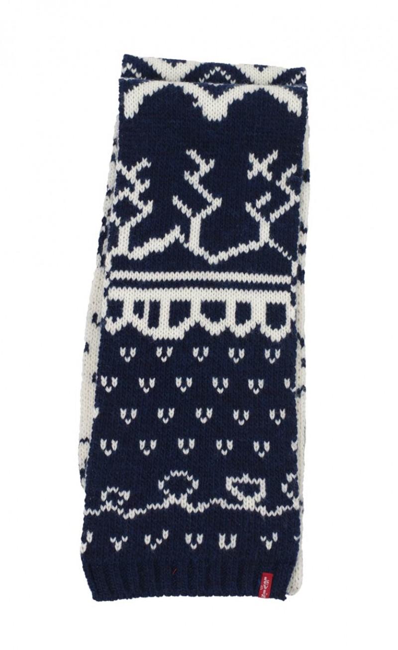 Levis® - Winter Schal - Jaquard - Navy Weiß