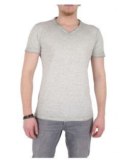 GARCIA MARCO - V-Neck T-Shirt - Grau
