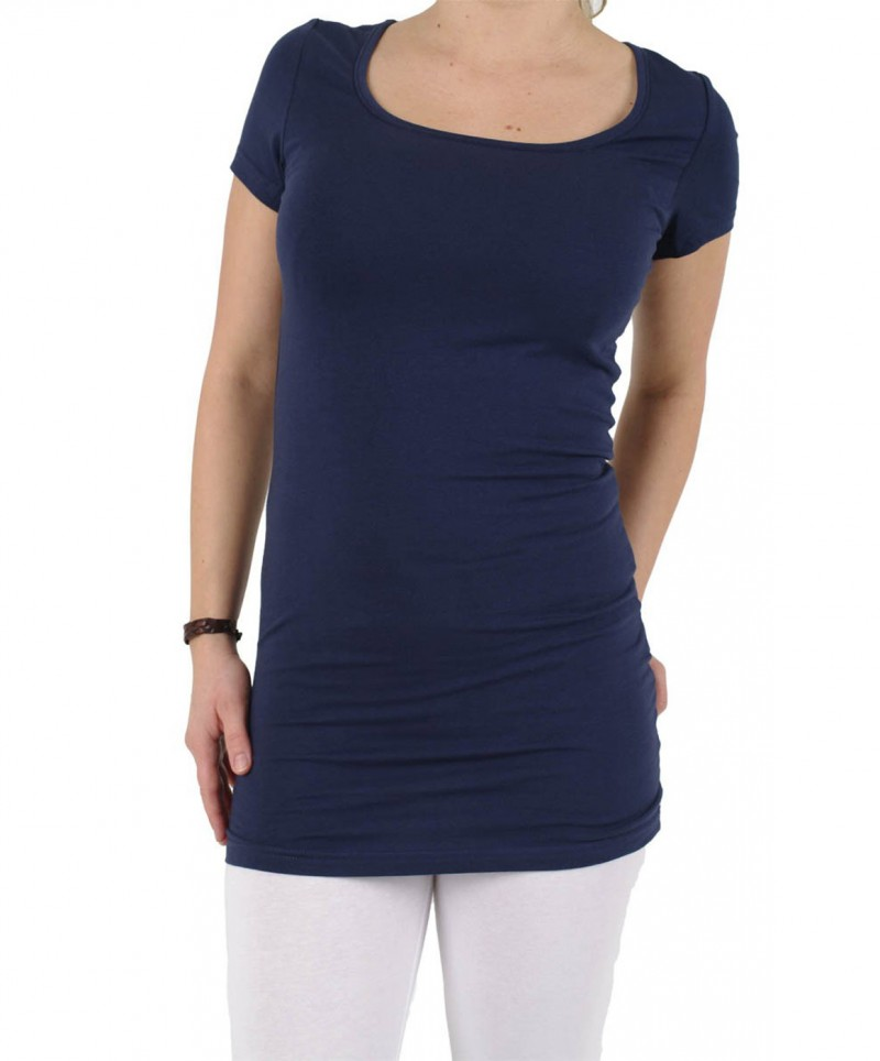 Vero Moda T-Shirt - Long U-NECK SS - Dark Navy