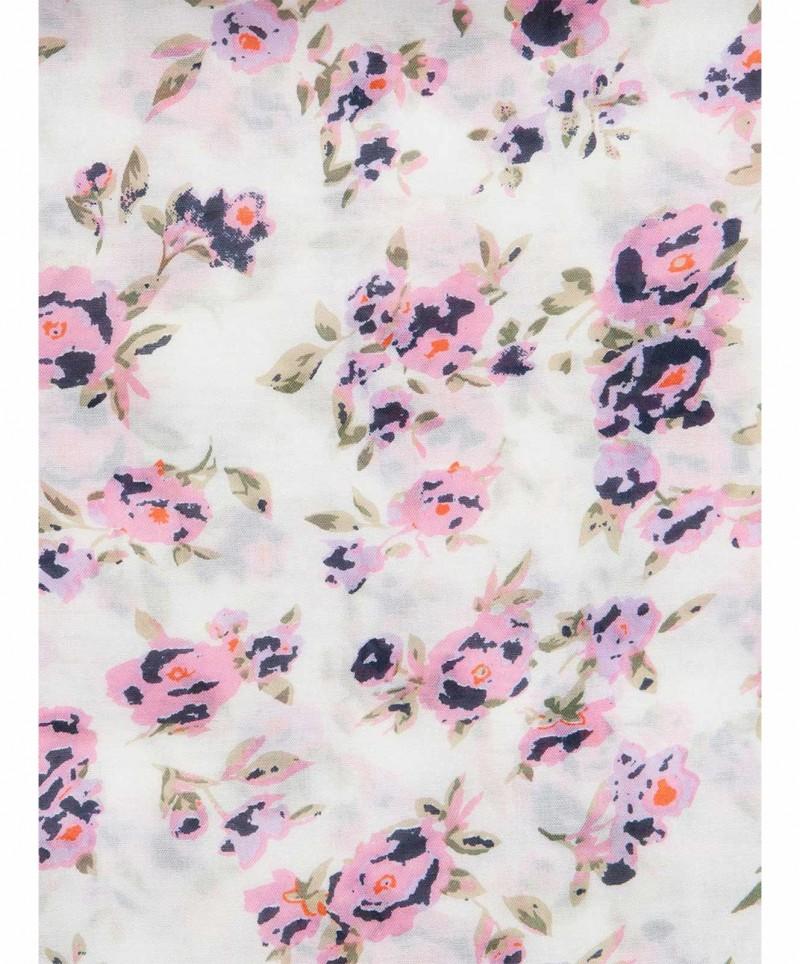 PIECES FLOWERED - Schal - Rosa