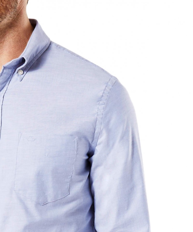 Garcia Dario - Businesshemd für Herrren mit Kentkragen - Dunkelblau