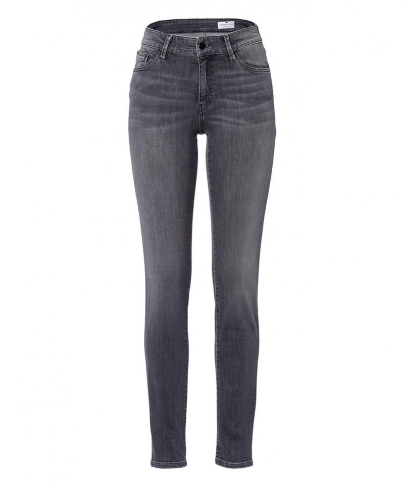 Cross Anya - dunkelgraue Jeans mit modischen High Waist