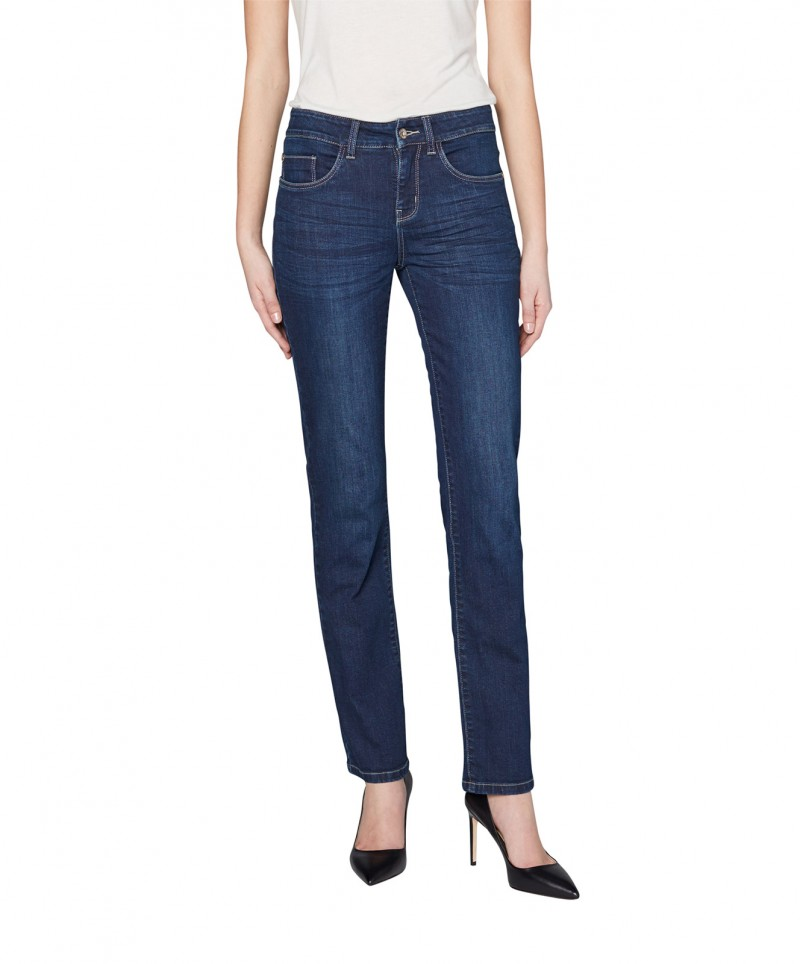 Colorado Layla - High Waist Jeans - Mid Blue Used
