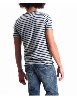 Garcia Rico - Schmal geschnittenes T-Shirt mit Streifen - Hinten