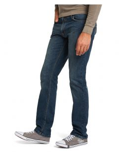 HIS STANTON Jeans - Straight Leg - Dark Sand Blue - Seite