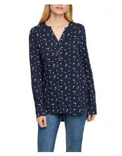 Vero Moda Soffi - schwarzes Blusenshirt mit Vogelmuster