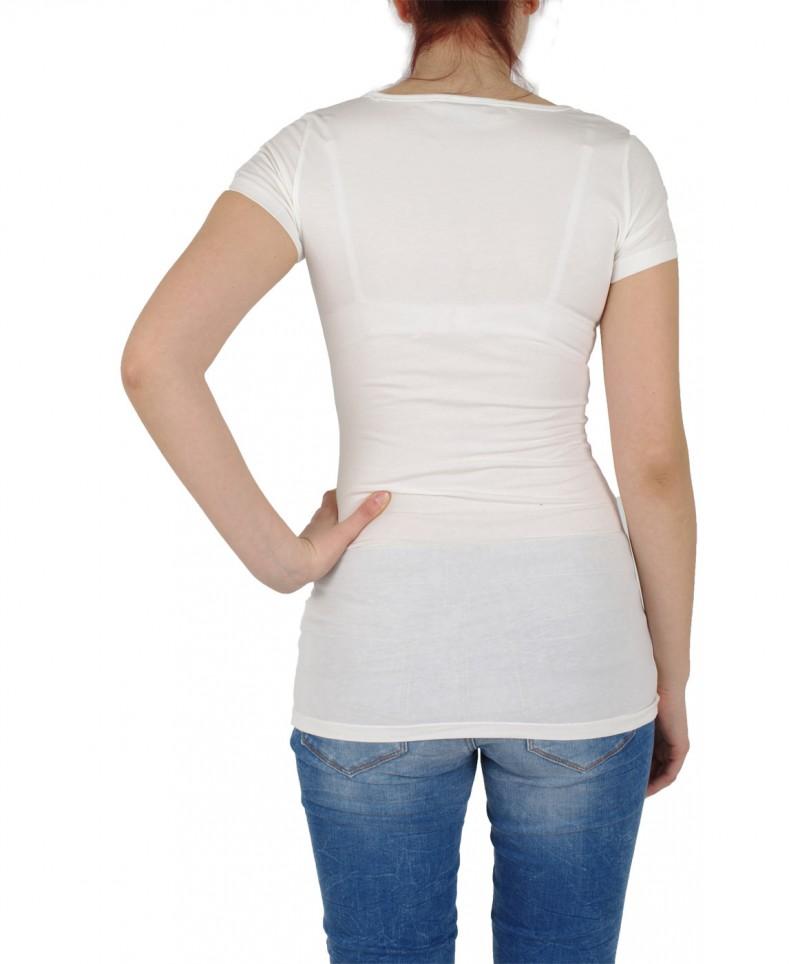 Vero Moda T-Shirt - Long U-NECK SS - weiß