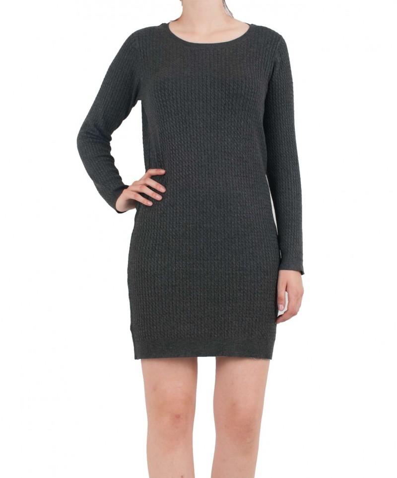 VERO MODA GLORY - Gestricktes Kleid - Dunkelgrau online kaufen