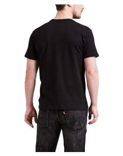 Levis T-Shirt Schwarz mit Batwing Logo f02