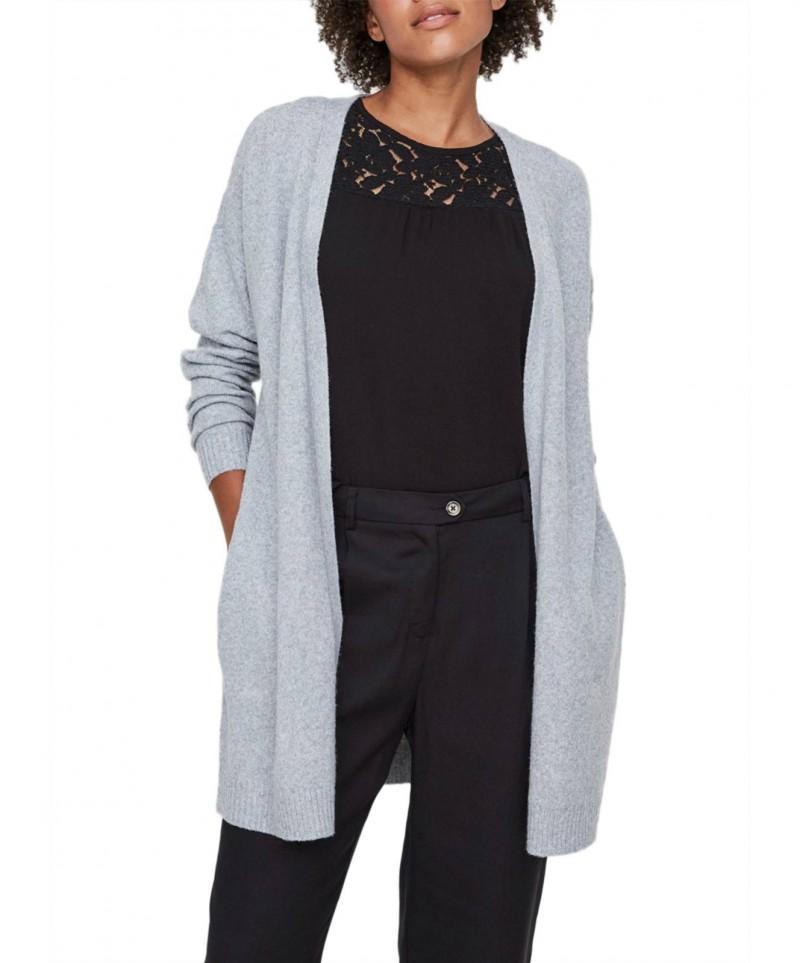 Vero Moda Doffy - Strick Cardigan in Grau