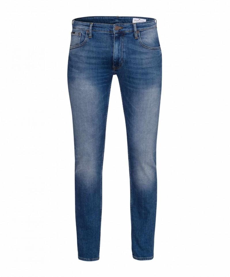Cross Jeans Damien Slim Straight fit Jeans im Used Look