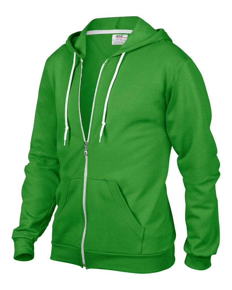 Anvil Kaputzen Sweatjacke Green Appel