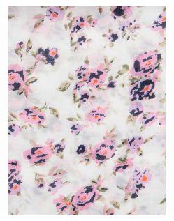 PIECES FLOWERED - Schal - Rosa - Details