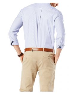 Dockers - Elastisches Oxford-Hemd in Blau mit Streifen - Hinten