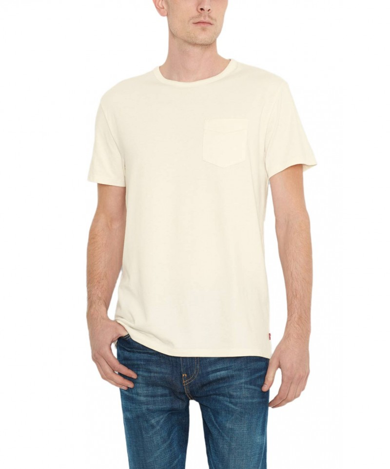 Levis T-Shirt - Sunset Pocket Tee - White Smoke