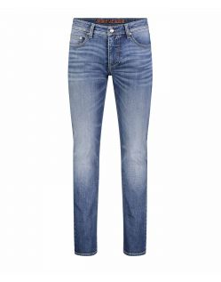 Mac Stan - Slim fit Jeans in hellblauem Vintage Look