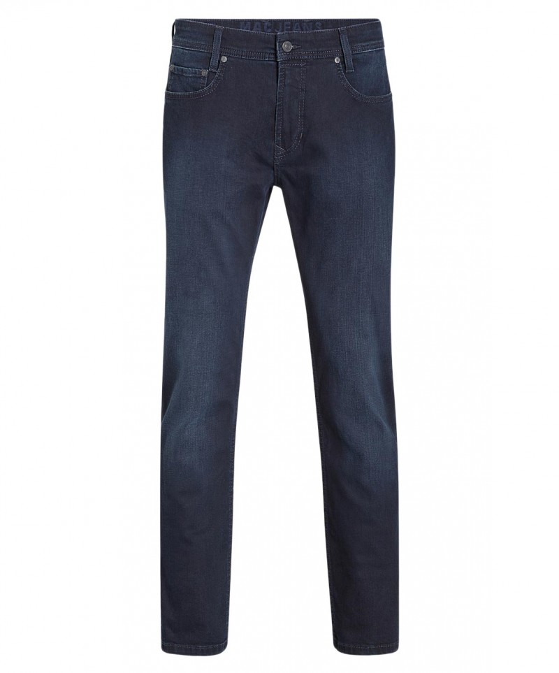 Mac Arne Pipe Jeans - Slim Leg - Deep Blue