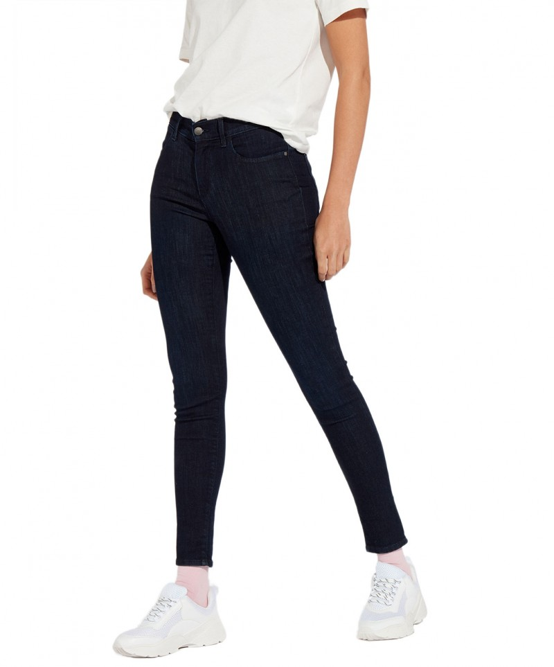 Wrangler Damen High Waist Jeans in Blue Black