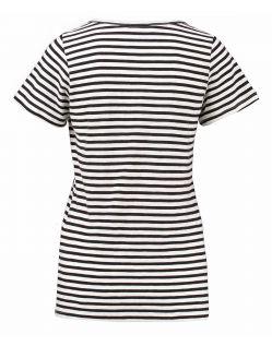 Garcia Lucia - T-Shirt - Loose Fit - U-Ausschnitt - Stripe White - Hinten