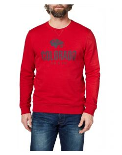 Colorado Denim Olliver - rotes Sweatshirt mit Logo