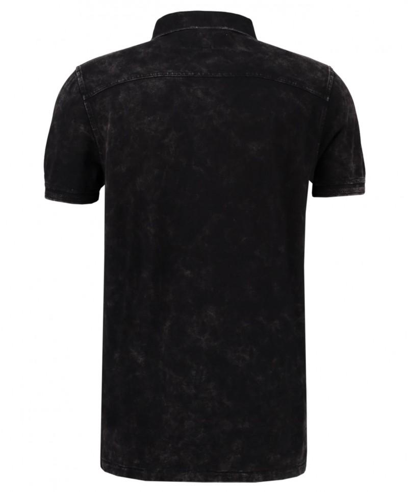 Garcia Pietro - kurzärmliges Poloshirt in Schwarz