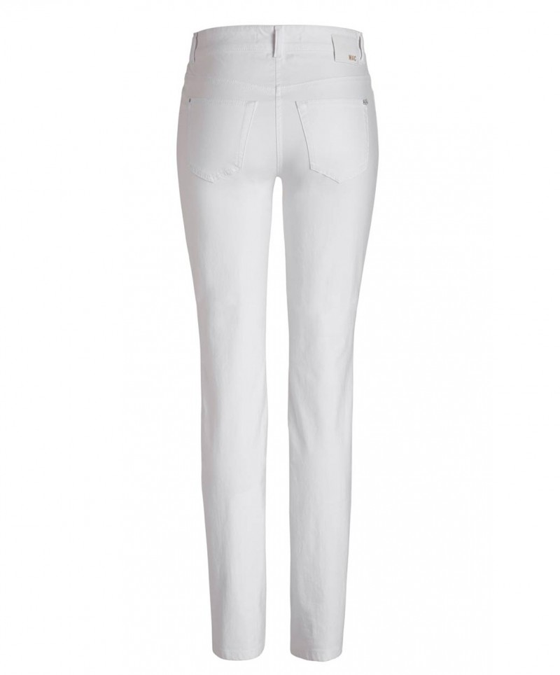 Mac Angela Hose - Slim Fit - White v