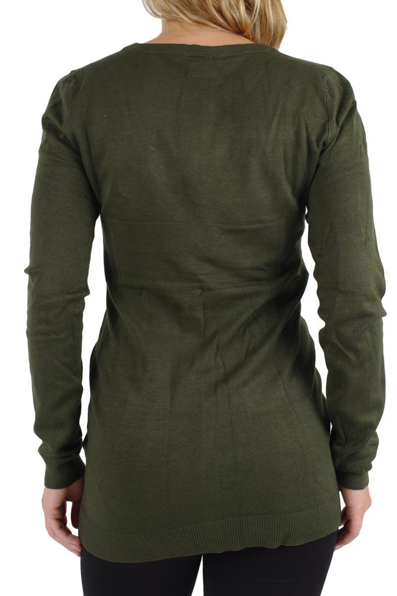 Vero Moda - Glory Strickjacke Long - Kombu Green