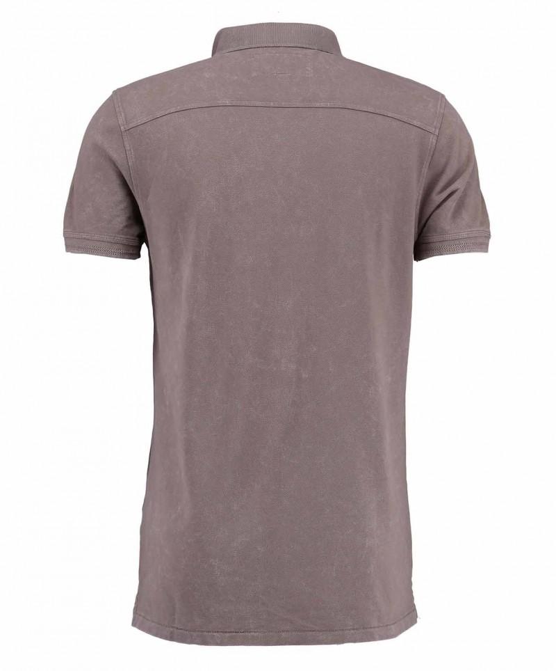 Garcia Pietro - braunes Polo-T-Shirt mit regulärem Schnitt