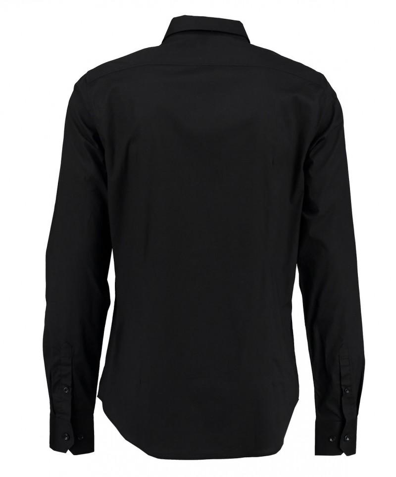 Garcia Dario - Businesshemd für Herrren mit Kentkragen - Schwarz